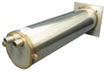 "HEATER HOUSING: STAINLESS MANIFOLD 11-1/2"" WITH (2) 1/2"" HOSE BARB"