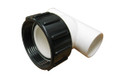 "Balboa Water Group | PUMP UNION |  LOW PROFILE TEE 1-1/2"" UNION X 1"" SLIP X 1"" SLIP & Oring | 332001"