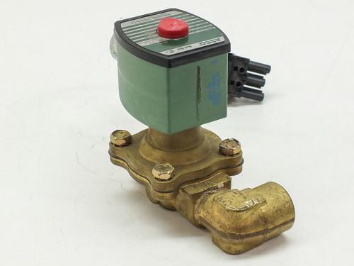 ASCO 8210G34N 2-Way Brass 1/2 In Solenoid Valve 150PSI 10.1WATTS RED-HAT