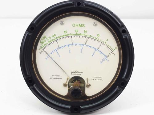 Phaostron 40-013857  Ruggedized Panel Meter 0-1000OHM 0-10VDC 0-10AC 77221