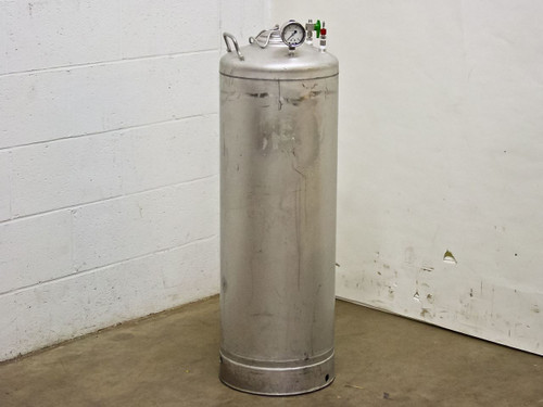 "UM Alloy Products Corp T316  42"" High Stainless Steel Pressure Vessel with 15 P"