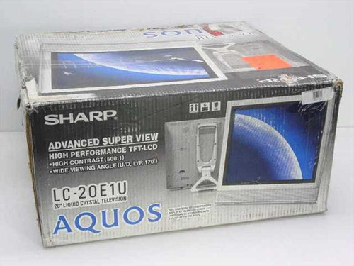 "Sharp LC-20E1UM  20"" Liquid Crystal Display Television - As Is"