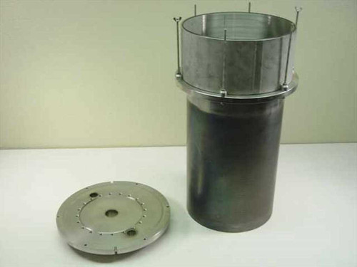 "MDC Vacuum  Ante Chamber w/ Top Flange 12"" OD 6 5/8"" ID to 1 1"