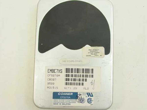 "Conner CFS270A  270MB 3.5"" IDE Hard Drive"