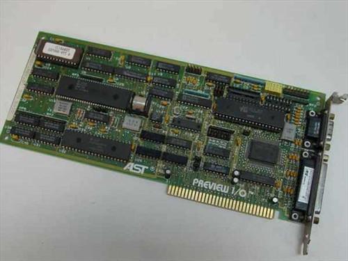 AST 202128-301A  8 Bit Monochrome Card - Preview I/O