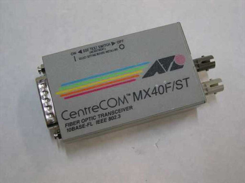 Allied Telesis AT-MX40F/ST  Fiber Optic Transceiver 10BASE-FL IEEE 802.3