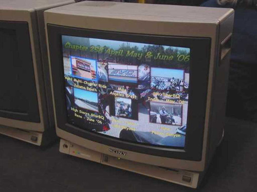 "Sony PVM-1380  13"" Color Video Monitor NTSC"