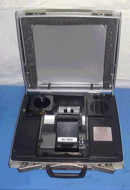 Bell & Howell Commuter II (portable)  Microfiche Reader. Folds up into suitcase - referb