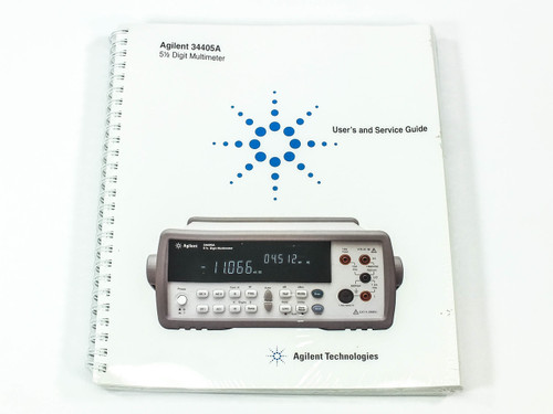 Agilent 34405A  5 1/2 Digit Multimeter User and Service Guide w/ CD
