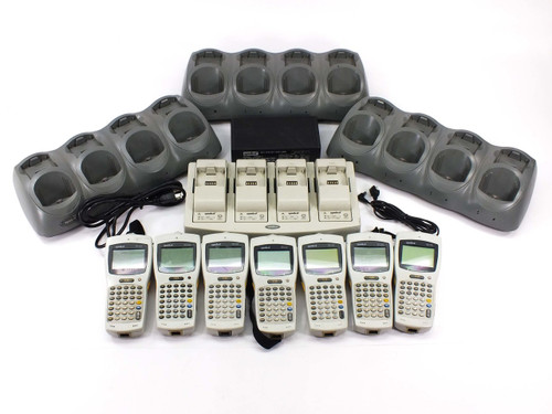 LOT OF  7 Symbol PDT6100 Portable Data Terminals with Base Chargers