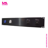 Dual Fiber - Powercon Input Panel