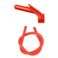 "Nitro Peep Sight 1/4"" with Premium Silicone Tubing - Red"