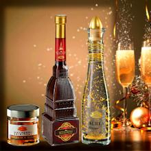 Confezione Regalo da Tre : Regalcrema Mole, Aurea Cristallo Oro e Zuccherini Spiritosi