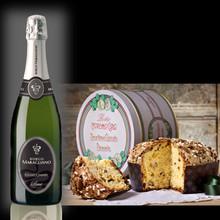 Confezione Regalo Chardonnay Brut e Panettone Glassato
