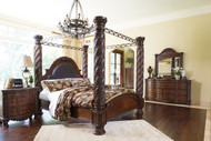 North Shore Dark Brown 9 Pc.King Poster Bedroom Collection