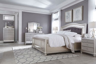 Coralayne Silver 7 Pc. California King Upholstered Panel Bedroom Collection