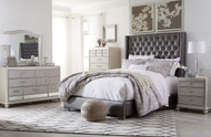 Coralayne Silver 4 Pc.Queen Upholstered Bedroom Collection
