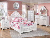 Exquisite White 4 Pc. Full Bedroom Collection
