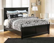 Maribel Black Queen Panel Bed