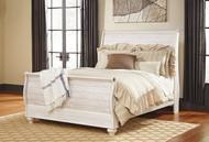 Willowton Whitewash Queen Sleigh Bed