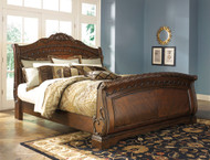 North Shore Dark Brown Queen Sleigh Bed