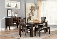 Haddigan Dark Brown 7 Pc. Rectangular Dining Set