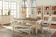 Bolanburg Antique White 9 Pc. Rectangular Dining Set