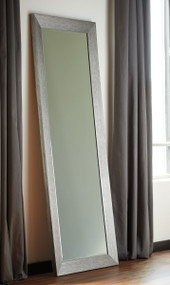 Duka Silver Finish Floor Mirror
