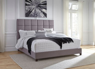 Contemporary Gray Upholstered King Bed