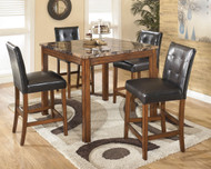 Theo Brown Square Counter Table Set