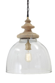 Farica Transparent Glass Pendant Light