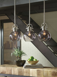 Johano Gray Glass Pendant Light