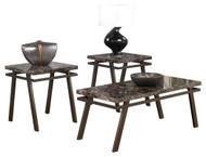 Paintsville Bronze Finish Occasional Table Set