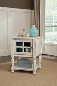 Mirimyn White Chair Side End Table