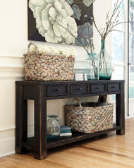 Gavelston Black Sofa Table