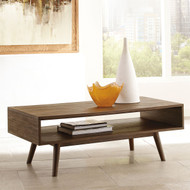 Kisper Dark Brown Rectangular Cocktail Table