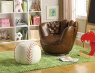 Baseball Glove Chair & Ottoman