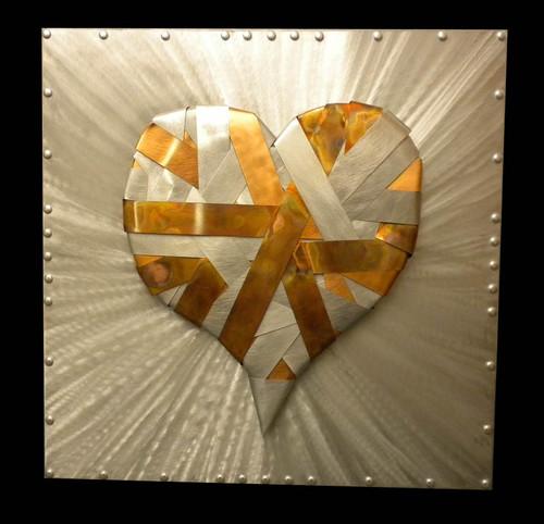 """Metal Bound Love "" ● Metal Art ● (SOLD)"