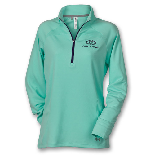 Ladies' Slice 1/4 Zip Mock