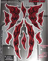 Flame Gel Kit Red Metallic