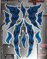Flame Gel Kit Blue Metallic