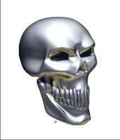 Chrome Skull Angle 3