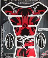 Black Red Tribal Metallic