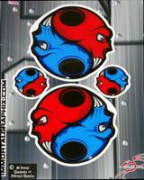 Skull Gel Kit Red Blue