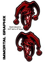 Joker 3D Gel Decal Red