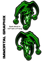Joker 3D Gel Decal Green