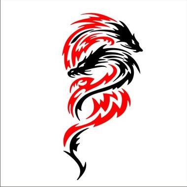Tribal Dragon 5 Two Color Immortal Graphix