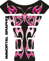 Flaming Butterfly Black/Pink