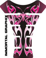 Flaming Butterfly Pink Black2