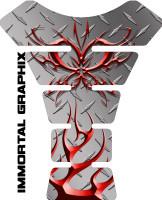 Tribal Butterfly Diamondplate Red